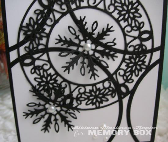 Xmas black snowflake detail