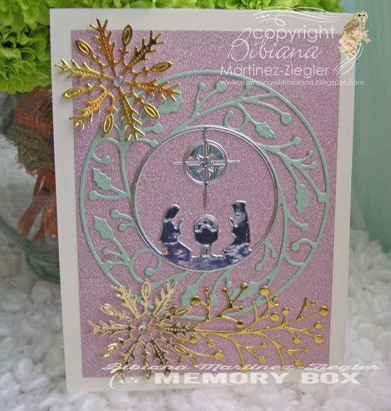 Xmas nativity pink front