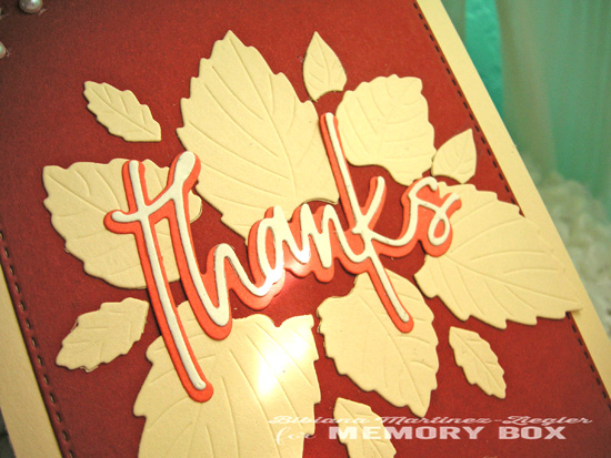 Fall thanks leaves detail