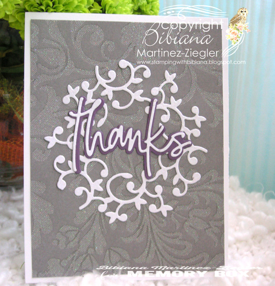 Thanks wreath grey front