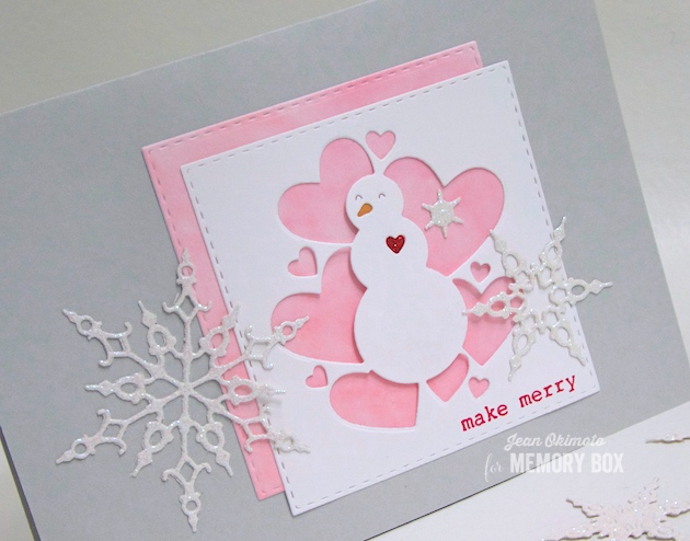 94028 All Heart Snowman craft die