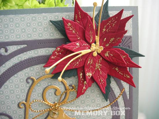 Xmas poinsettia lantern flower