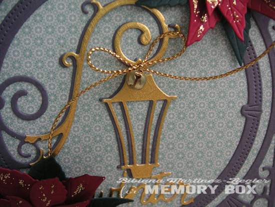 Xmas poinsettia lantern detail