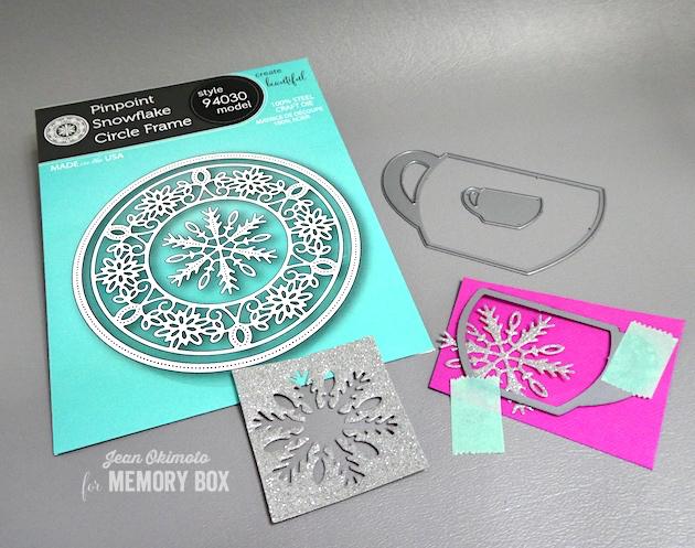 MemoryBoxPinpointSnowflakeCircleFrame-MemoryBoxCozyMugs-JeanOkimoto-MemoryBoxCo-MemoryBoxSnowflakes-SnowflakeCards-SnowflakeDiecuts