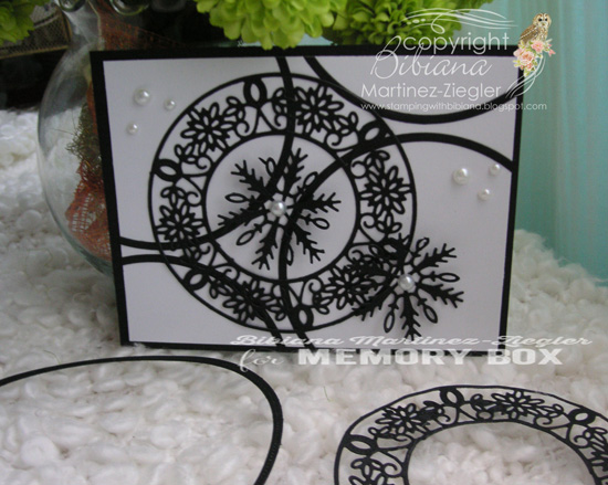 Xmas black snowflake horizontal