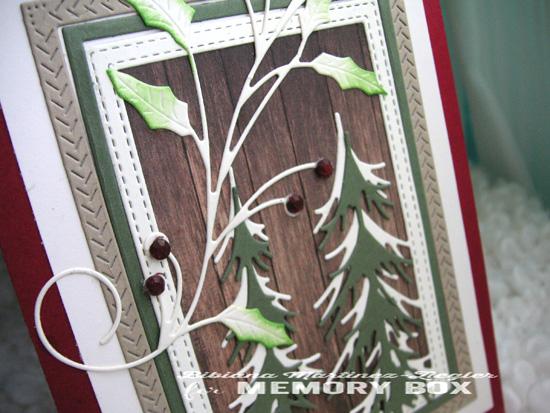 Xmas pine wood detail
