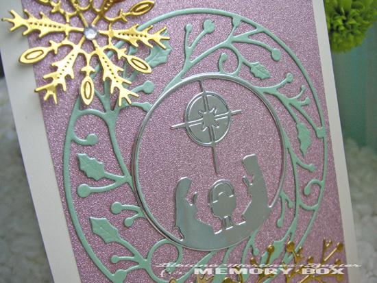 Xmas nativity pink detail