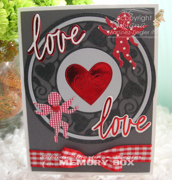 94109 Cupid Circle craft die