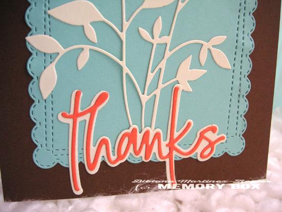 Thanks leaves detail