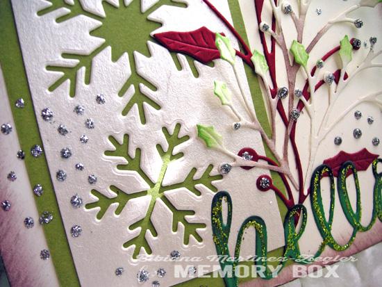 Xmas hello snowflakes detail