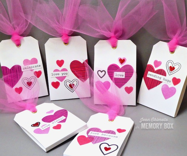 MemoryBoxHaveAHeartClearStamps, MemoryBoxHeartBoard, MemoryBoxBestLifeTypewriterSentimentsClearStamps, JeanOkimoto, ImpressCardsAndCrafts, ImagineCrafts, VersaFineClair, MementoLuxe, ValentineTreatWrappers, ValentineStamps, ValentineCandyWrappers