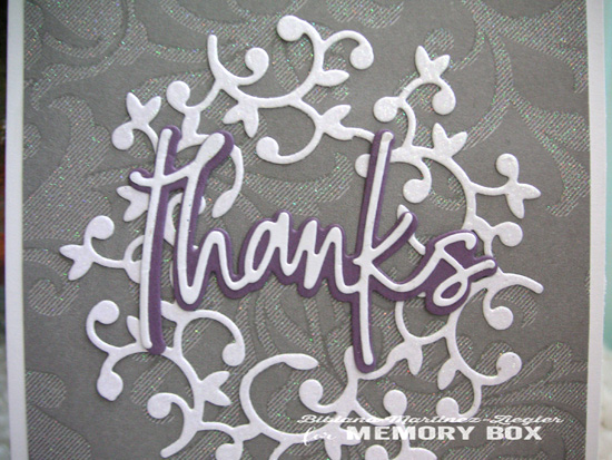 Thanks wreath grey detail