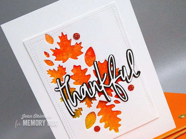 MemoryBoxLeafCollage-MemoryBoxWrappedStitchRectangles-MemoryBoxThankfulJottedScript-JeanOkimoto-Kaleidacolor-LeafCards-LeafDiecuts-WatercoloredLeaves-FallDiecuts