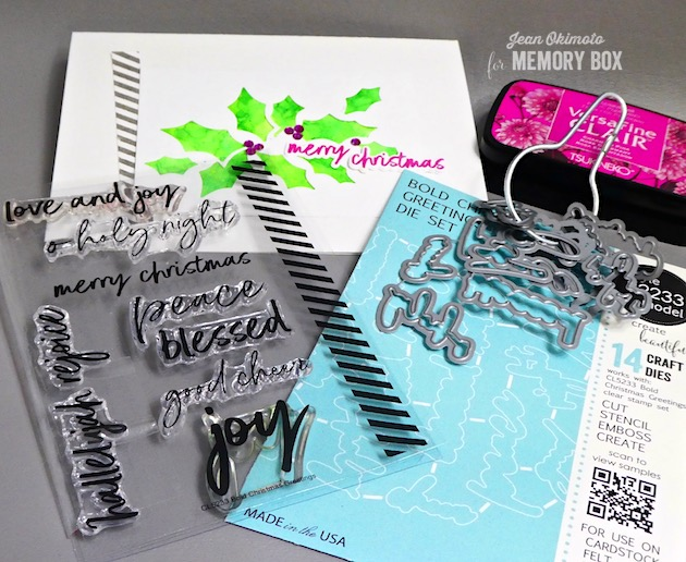 MemoryBoxHollyCollage-MemoryBoxBoldChristmasGreetings-ImagineCrafts-VersaFineClair-Kaleidacolor-JeanOkimoto-ImpressCardsAndCrafts
