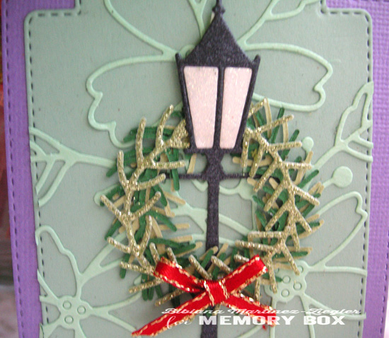 Xmas tag lamp detail