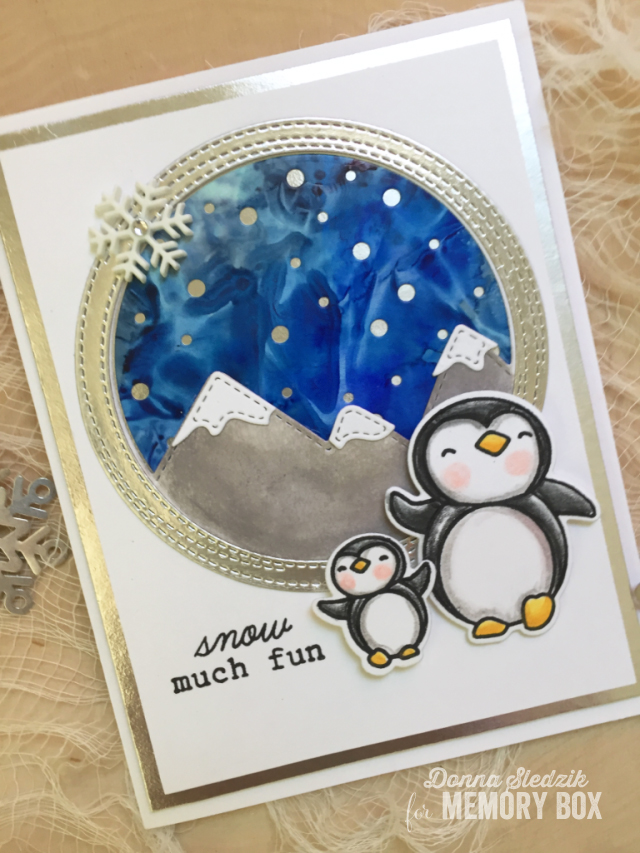 CL5227 Penguin Cheer clear stamp set