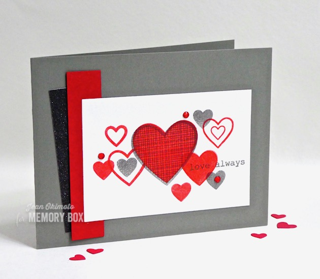 MemoryBoxHaveAHeartClearStamps, MemoryBoxBestLifeTypewriterSentimentsClearStamps-MemoryBoxRectangleBasics-JeanOkimoto-MemoryBoxValentine's2019Collection-ImagineCrafts-VersaFineClair-ValentineStamps-ImpressCardsAndCrafts