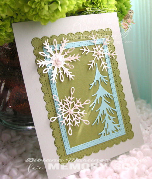 Xmas snowflakes pines last