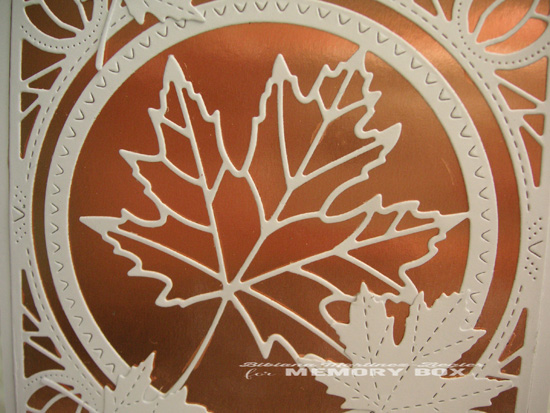Fall copper leaf detail