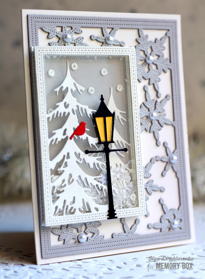 10 - Snowy Lantern Shaker Card 2
