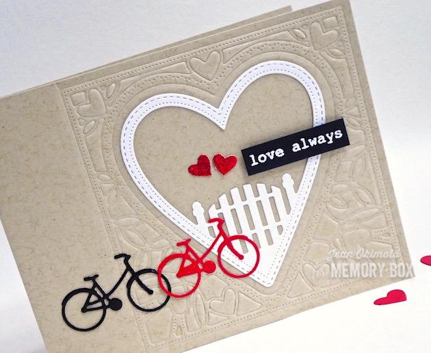 MemoryBoxNeighborhoodHeartFrame-MemoryBoxBestLifeTypewriterSentiments-MemoryBoxCo-JeanOkimoto-ValentineDiecuts-HeartCards-HeartDiecuts-BikeCards-BikeDiecuts-TypewriterGreetings-VersaMark-ImpressCardsAndCrafts