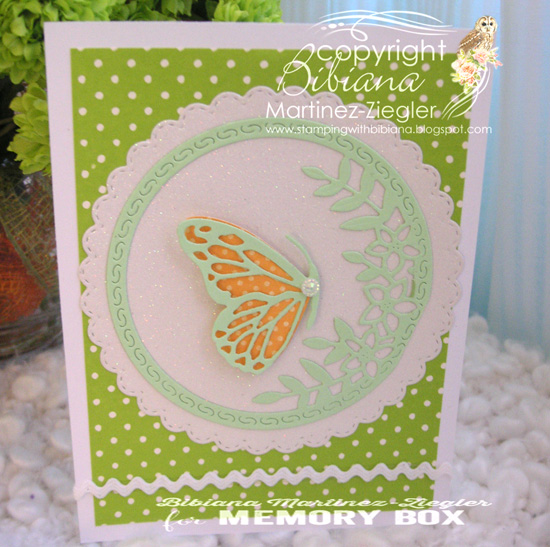 94232 Side Butterfly Circle craft die