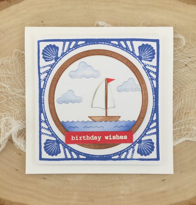 94226 Sailboat Frame craft die