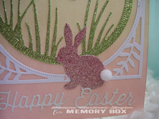 Happy easter pink bunny detail