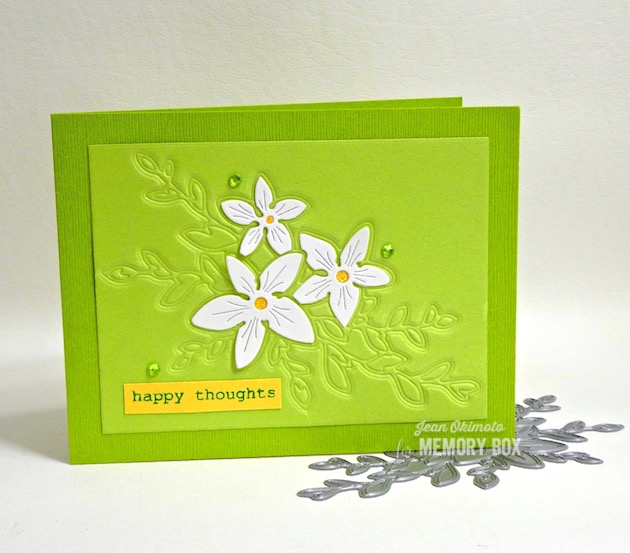 MemoryBoxSketchFlowerSpray, MemoryBoxRoseBouquetClearStampsAndDieSet, MemoryBoxApril2019Collection, EmbossingWithDies, JeanOkimoto