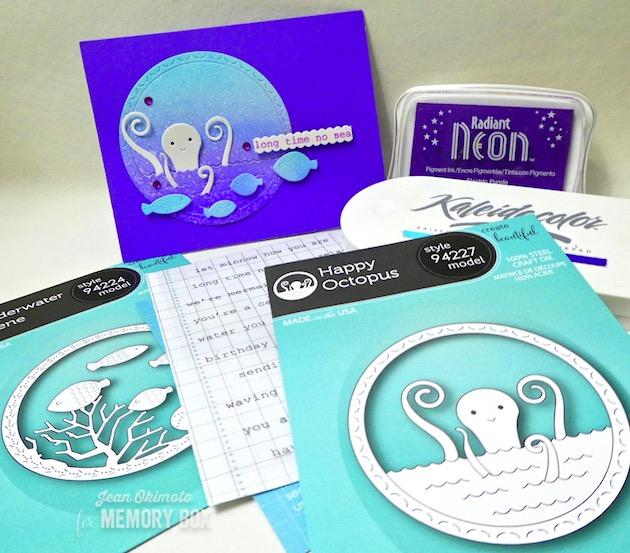 MemoryBoxHappyOctopus-MemoryBoxUnderwaterScene-MemoryBoxOceansideTypewriterSentiments-JeanOkimoto-MemoryBoxSpringCollection-BlogBlitz-ImagineCrafts-ImpressCardsAndCrafts-NauticalCards-OceanCards-NauticalDiecuts