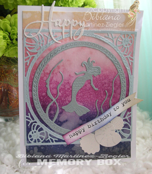 Mermaid HB'day blues front