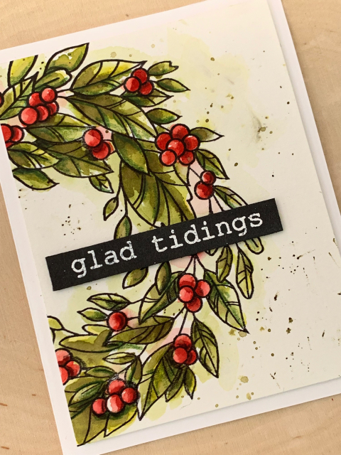 CL5245 Tidings Wreath clear stamp set