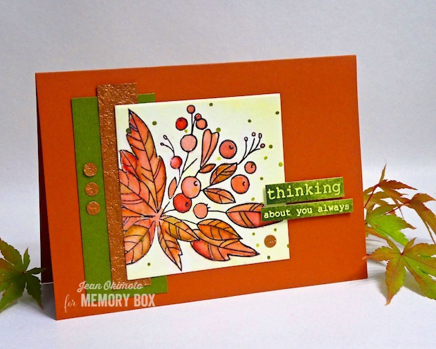MemoryBoxHolidayGreeneryClearStamps, MemoryBoxSquareBasics, MemoryBoxSpeckledBackground, JeanOkimoto, ImagineCrafts, ImpressCardsAndCrafts, The CraftersWorkshop, HandmadeFallCards,SplatterCards