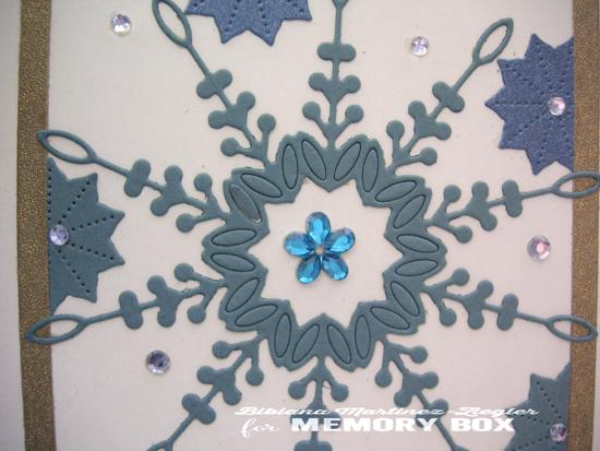 Blue snowflake det