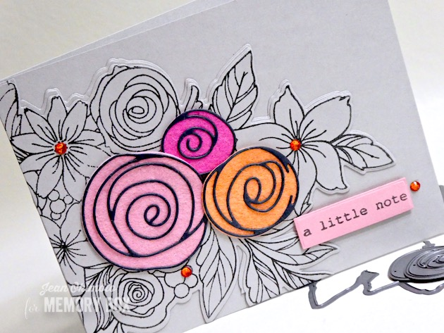 94270 Scribble Roses Outline craft die
