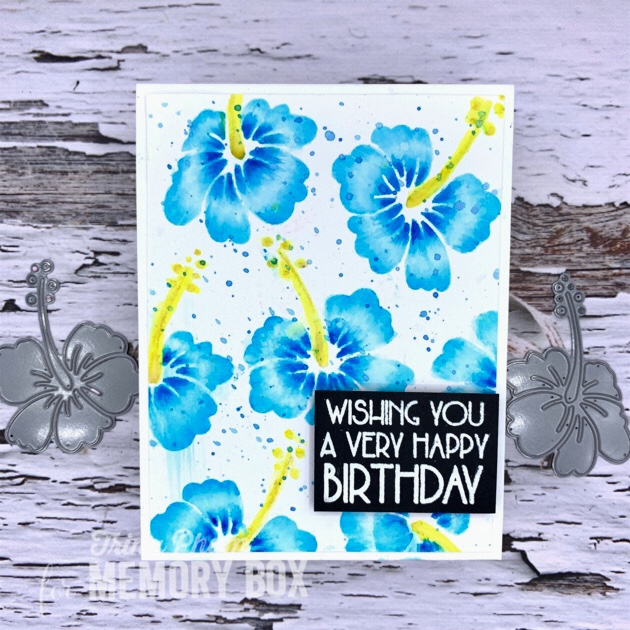 94262 Hibiscus Collage craft die