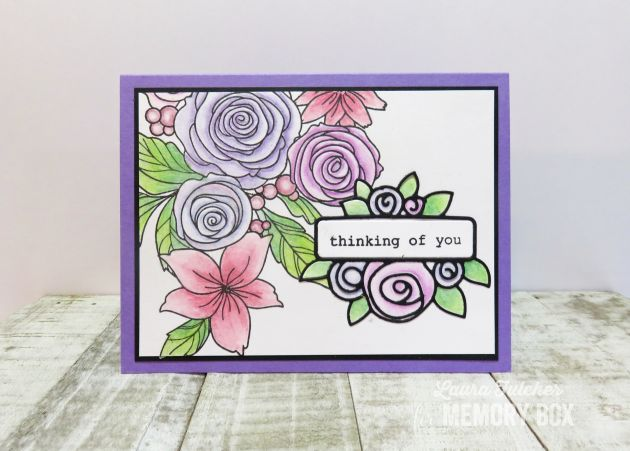 CL5241 Rose Bouquet clear stamp set
