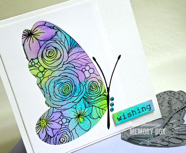 MemoryBoxBigButterflyWing, MemoryBoxOpenStudioRoseBouquetClearStampsandDiesSet, MemoryBoxRectangleBasics, JeanOkimoto, ImagineCrafts, VersaFineClair, ImpressCardsAndCrafts, ButterflyCards, FlowerCards, ButterflyDiecuts, WatercoloredFlowers