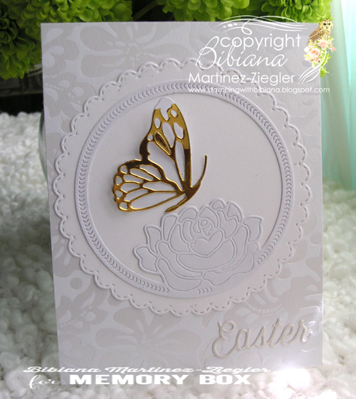 White gold butterfly front
