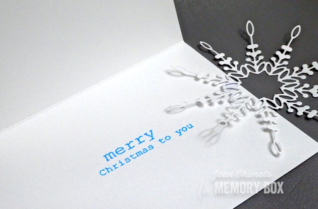 MemoryBoxChandeleSnowflake, MemoryBoxMistletoeSwagClearStampsSet, MemoryBoxCircleBasics, JeanOkimoto, Kaleidacolor, EmbossingWithDies, SnowflakeCards, SnowflakeDiecuts, ImpressCardsAndCrafts, CardsWithWatercoloredBackgrounds