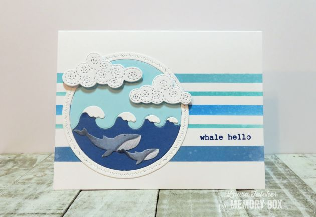 94228 Wonderful Whale Frame craft die