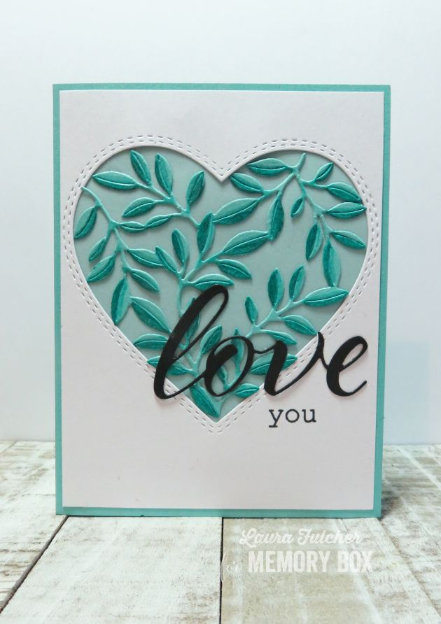 CL5250 Friendship Floral Heart clear stamp set