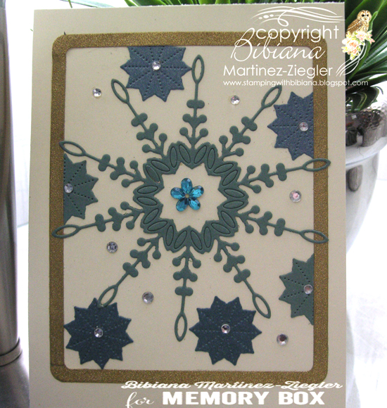 Blue snowflake front