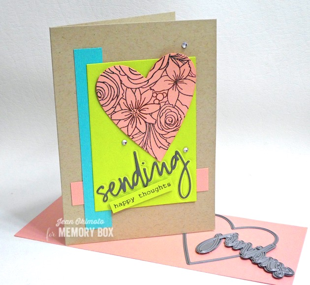 MemoryBoxRoseBouquetClearStampSet, MemoryBoxSendingJottedScript, MemoryBoxRectangleBasics, MemoryBoxHaveAHeartDieSet, JeanOkimoto, ImagIneCrafts, Mboss, VersaFineClair, ImpressCardsAndCrafts, FlowerCards, HeartCards