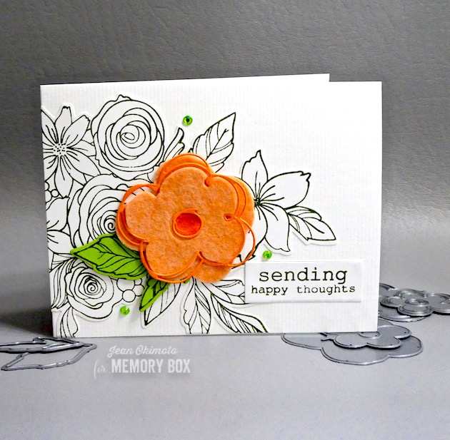94268 Scribble Posies Outline craft die