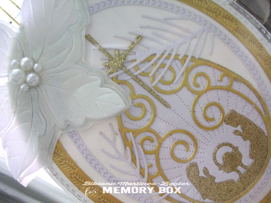 Xmas nativity bookmark detail