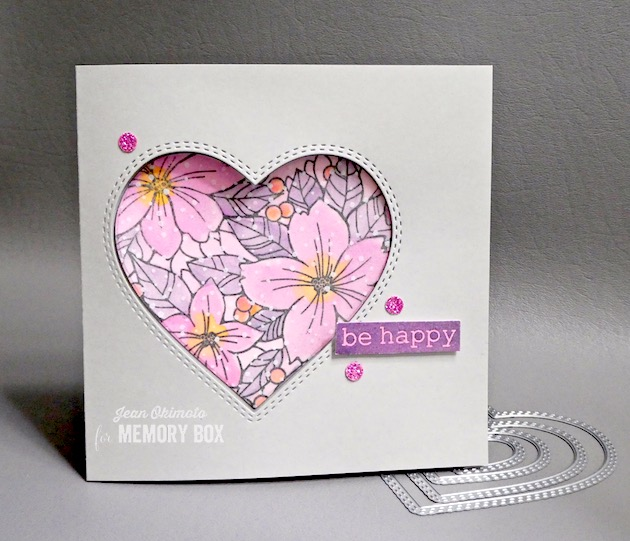 MemoryBoxFriendshipGardenFloralHeartClearStamps, MemoryBoxBigAndLittleValentinesClearStamps, MemoryBoxDoubleStitchLovingHeartCutOut, PoppystampsSnowspeckleWideWashiTape, JeanOkimoto, MemoryBox2020Valentine'sCollection, HeartDiecuts, ValentineDiecuts, WatercoloredHearts, ImpressCardsAndCrafts