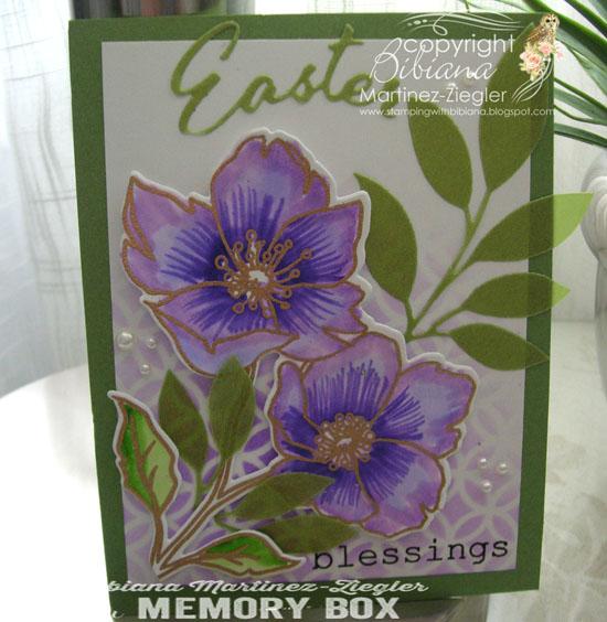 Easter violet flower front