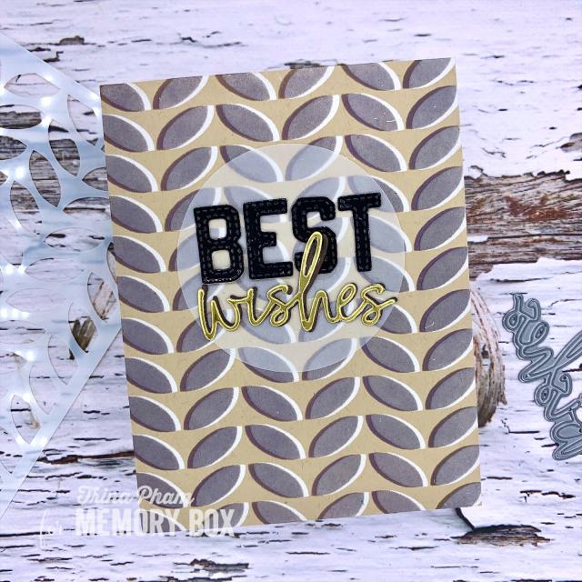 88615 Leafy Rows Stencil