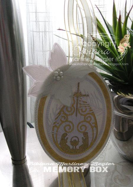 Xmas nativity bookmark front